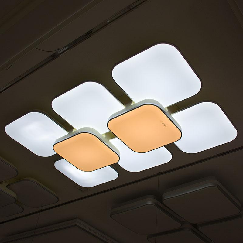 铭豪灯饰(MENTOR)LED客厅灯 现代高端吸顶灯手机智能无极调光