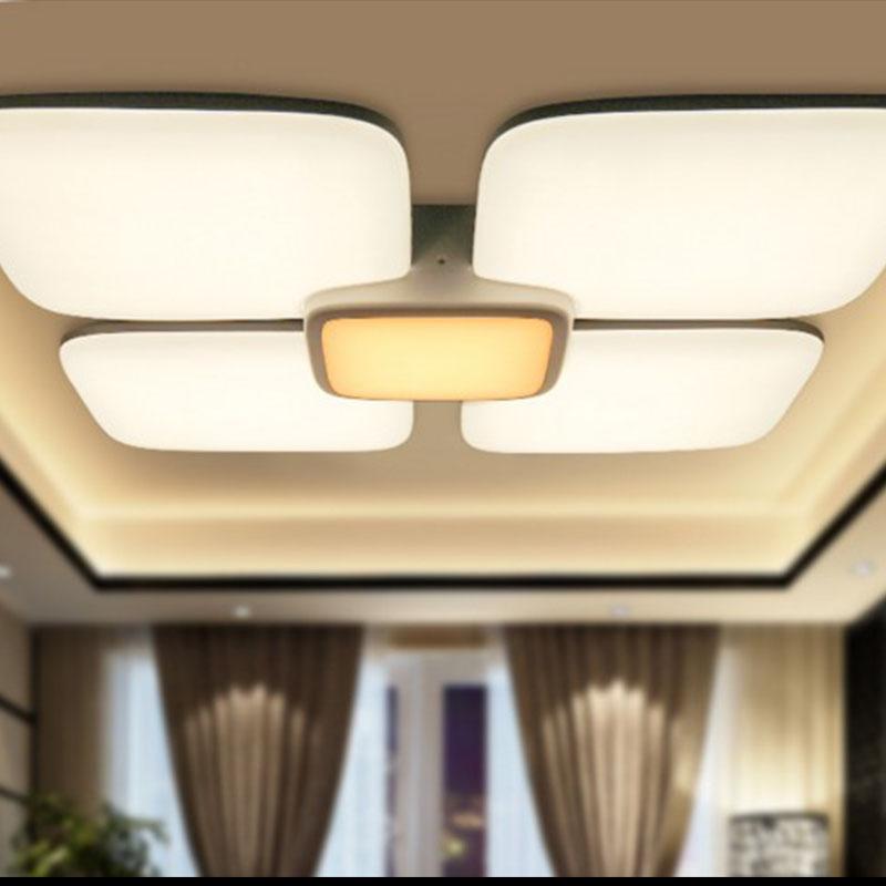 铭豪灯饰(MENTOR)亮居LED吸顶灯 长方形客厅灯现代款豪华卧室灯无极变光灯具包邮
