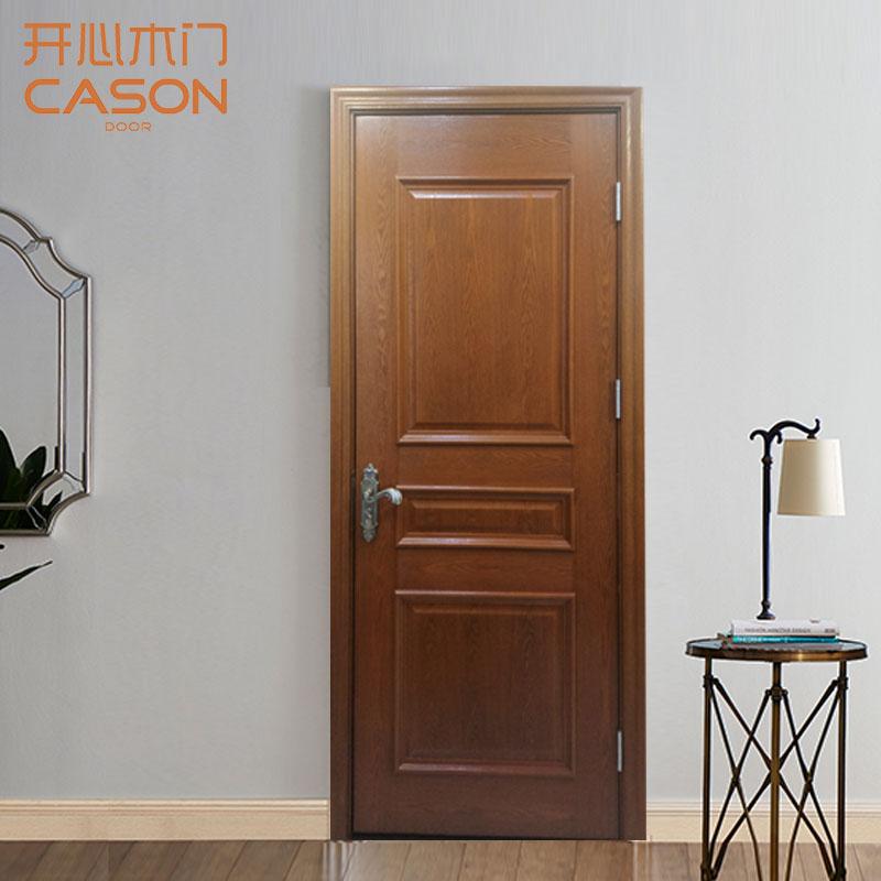 开心木门(CASON)实木拼贴 棕色开放 规格200*80