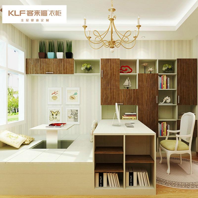 客来福书房家具多功能实木榻榻米定制 整体卧室塌塌米床现代简约