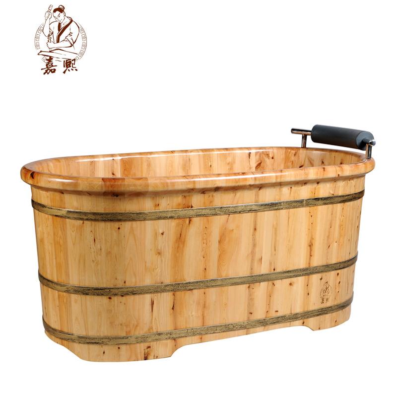 嘉熙木桶0903香柏木 泡澡木桶成人 浴桶木桶內置扶手洗澡桶沐浴桶
