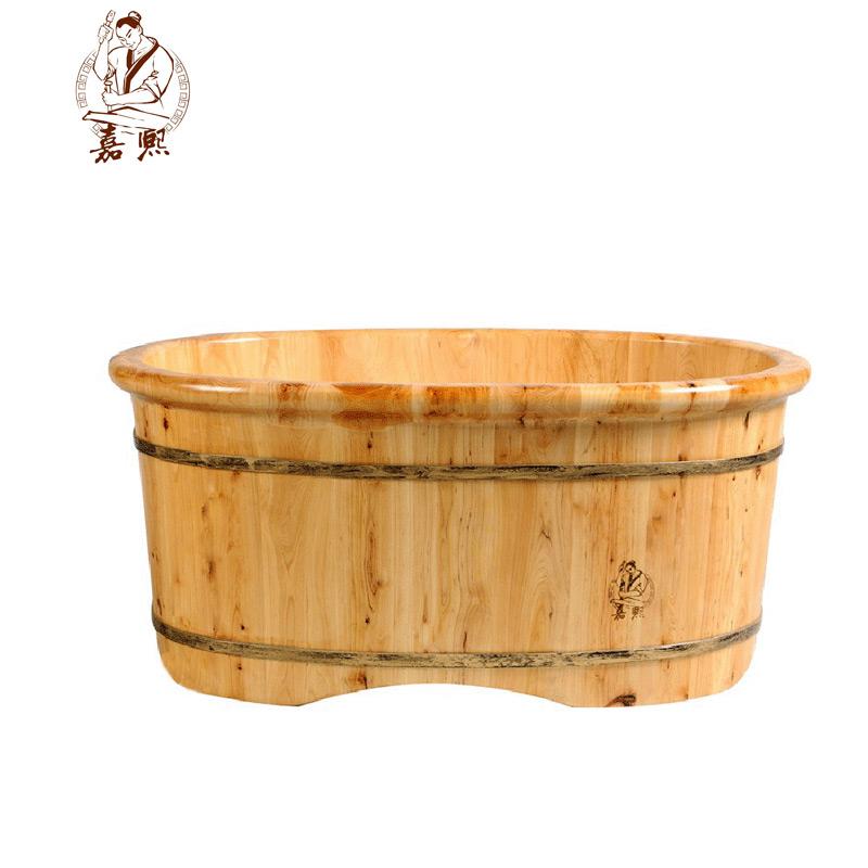 嘉熙香柏木桶沐浴桶婴儿桶2型儿童洗澡桶坐浴盆宝宝浴桶泡澡木桶