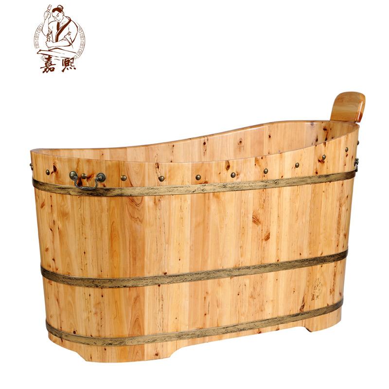 嘉熙舒适1型-2型沐浴桶泡澡木桶香柏木成人柏木坐浴桶沐浴桶泡澡