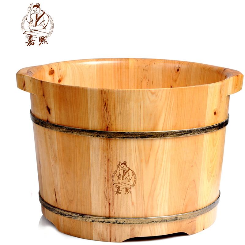 嘉熙木桶香柏木洗脚桶浴足桶1型 泡脚木桶浴足桶洗脚盆