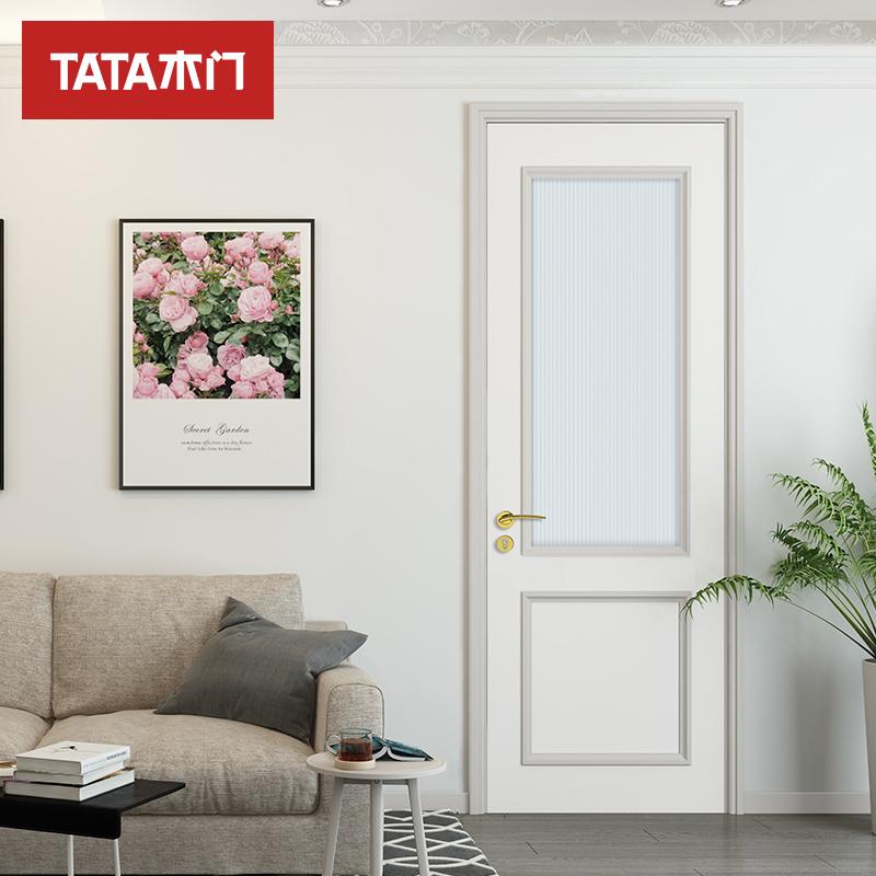 TATA木门室内静音门 实木复合卧室环保油漆门定制木门JF-002B-J