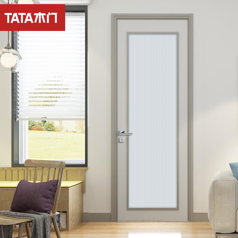 TATA木门室内静音门 实木复合卧室环保油漆门定制木门JF-001B-J