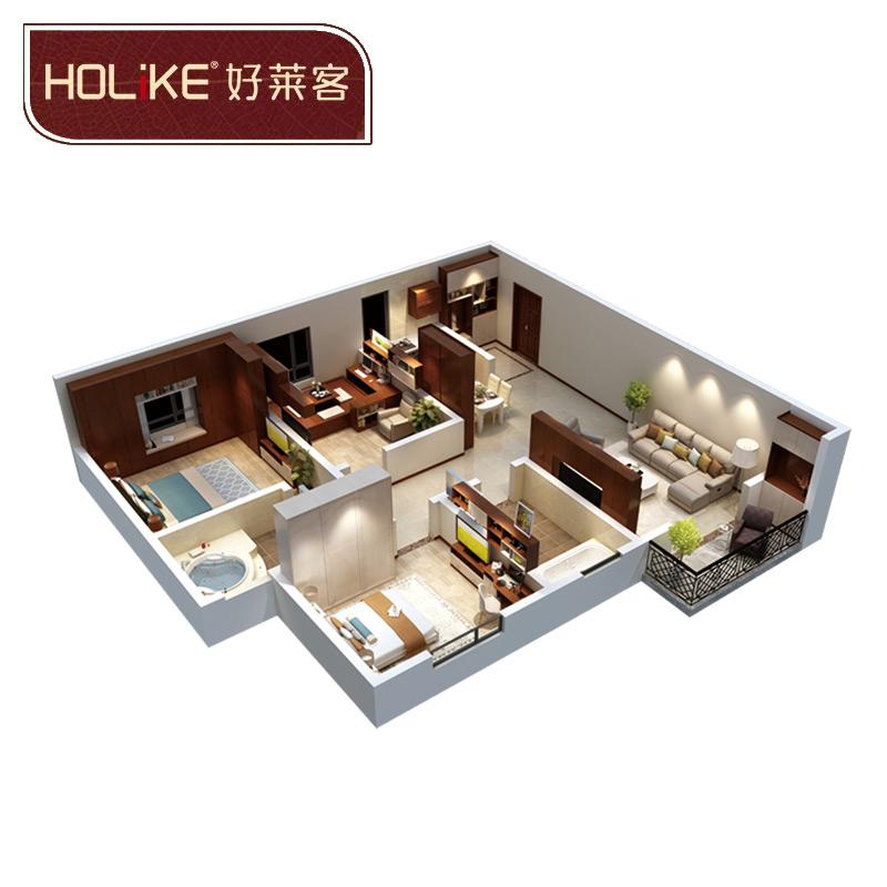 好萊客(HOLIKE)原態套餐衣柜 13平方