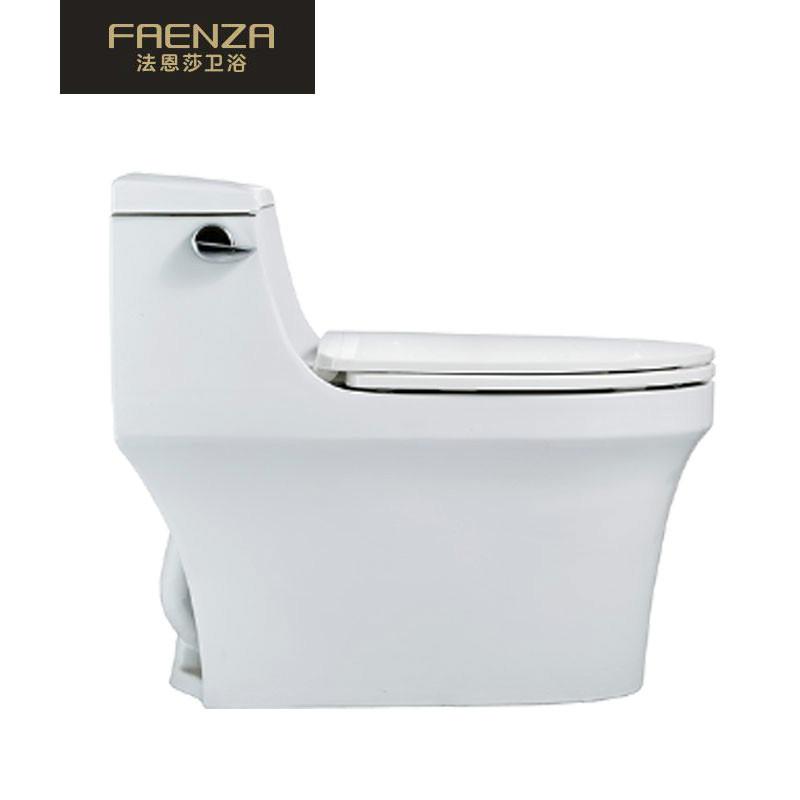 法恩莎FAENZA高端卫浴喷射式虹吸马桶 防污抗菌 环保节水 无毒静音盖 简约时尚FB16103