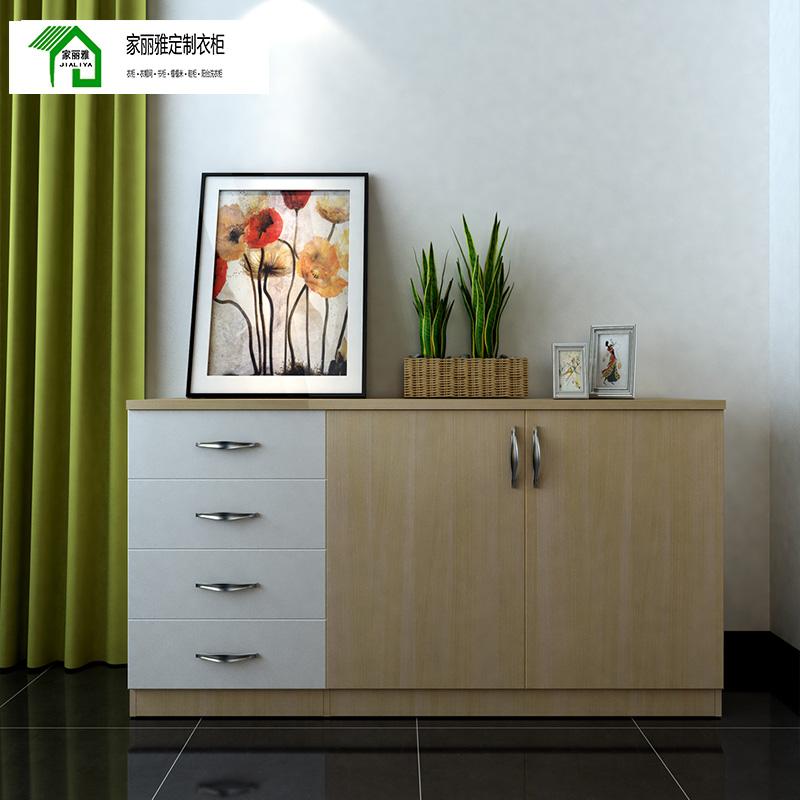 家丽雅轻奢定制阳台柜储物柜收藏柜现代简约 环保零甲醛禾香板