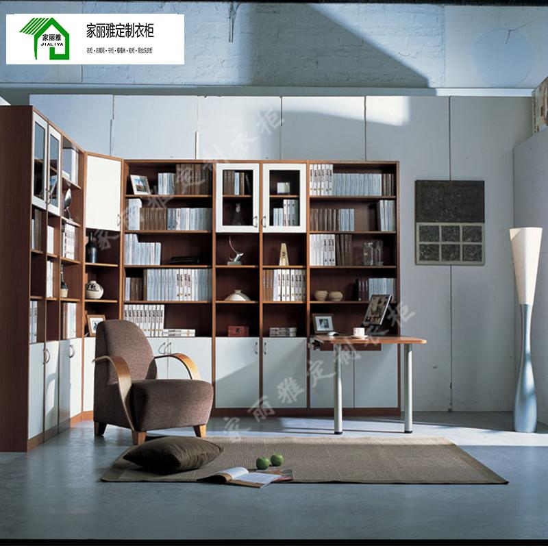 家丽雅轻奢定制书柜书房办公室高端简约零甲醛禾香板