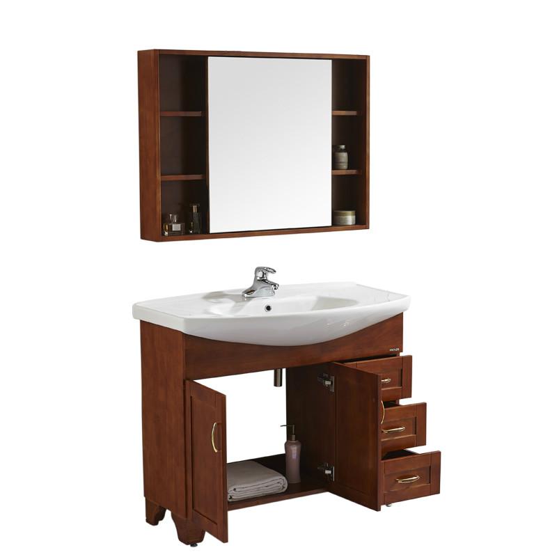 法恩莎FAENZA高端平板整體浴室柜套餐 衛生間柜現代 簡約時尚落地柜FPGM3647-C