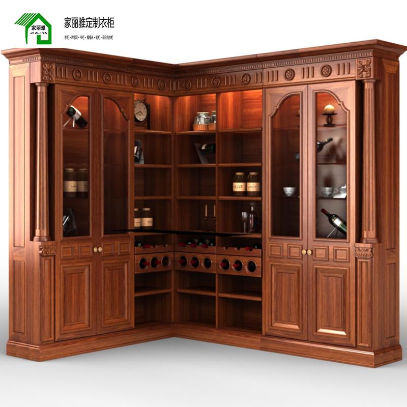 家丽雅轻奢定制酒柜 经典中式 奢华高雅 零甲醛禾香板