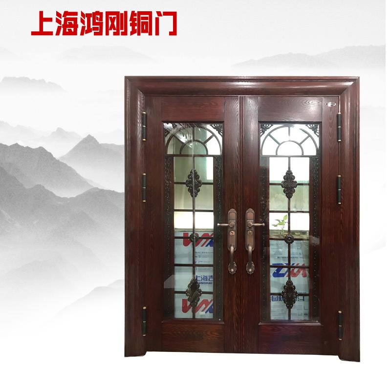 鸿刚欧式玻璃合金门定制玻璃门中空门定制大门