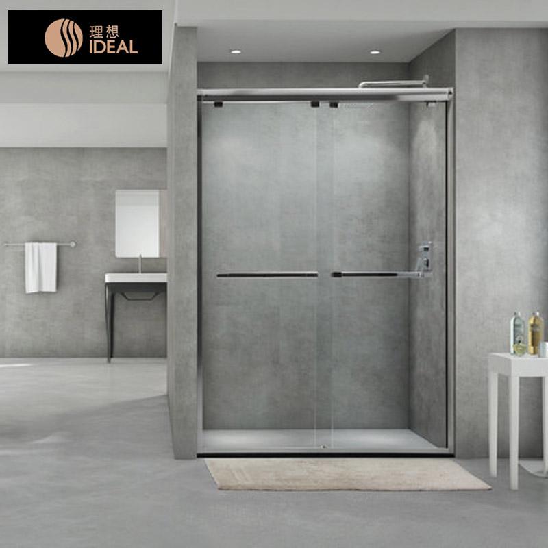 理想卫浴淋浴房 一字型屏风门淋浴间钢化玻璃定制豪华洗澡房ICP20X-10