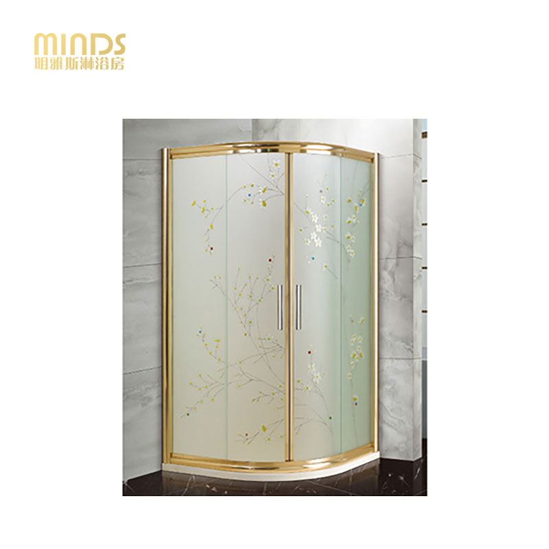 明雅斯定制不锈钢扇形淋浴房圆弧型淋浴房扇形淋浴房钢化玻璃隔断A881-1