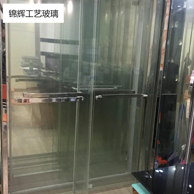錦輝定制淋浴房      鋼化防爆玻璃經濟型不銹鋼外掛門