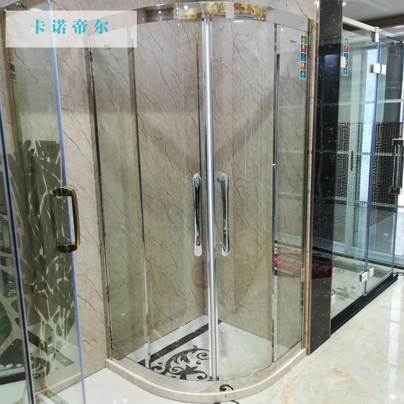卡诺帝尔淋浴房定制 304不锈钢整体隔断简易卫生间洗浴室玻璃浴屏Y8101