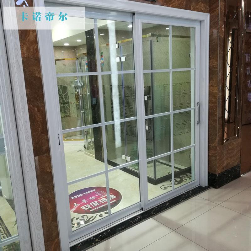 卡诺帝尔中空玻璃移门滑轨门 厨房推拉门铝镁合金阳台客厅吊趟 门83凹中空门
