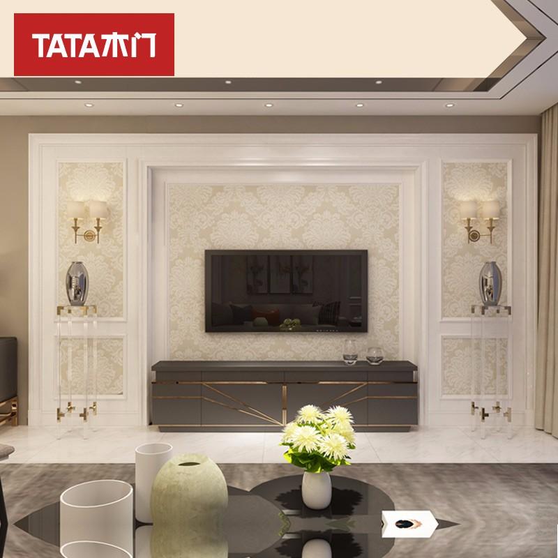 TATA木門(tata)定制美式田園客廳臥室書房電視床頭典雅1號背景墻BN套餐