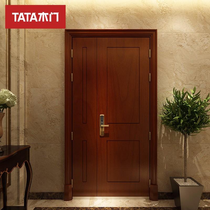 TATA木门 (tata)智能入户门 安全防盗防火隔音院内庭院室内门ZM003