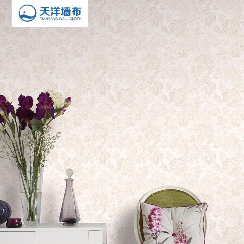 【特价】天洋免胶水热熔无缝墙布 美式田园卧室客厅电视沙发背景壁布F1026