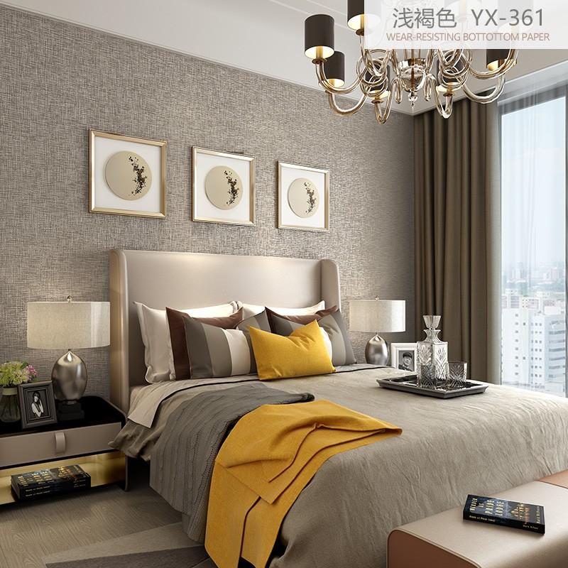 客厅墙纸电视背景墙壁纸温馨卧室墙布现代简约素色纯色灰色无纺布