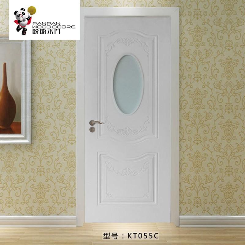 盼盼实木复合门KT055C  适用类型:室内门、书房门、厨房门、卫生间门