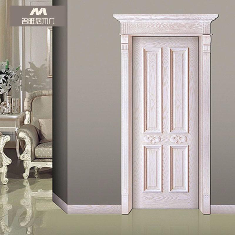 名门雅居实木门室内门白色木纹室内门
