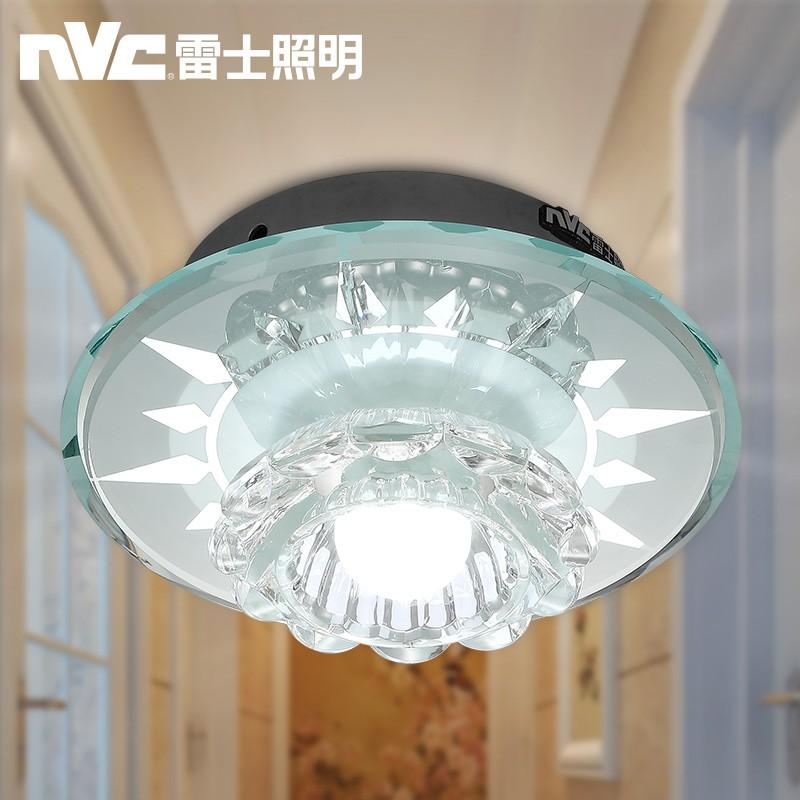 雷士照明明装筒灯圆形射灯走廊过道灯水晶LED吊顶牛眼孔灯天花灯