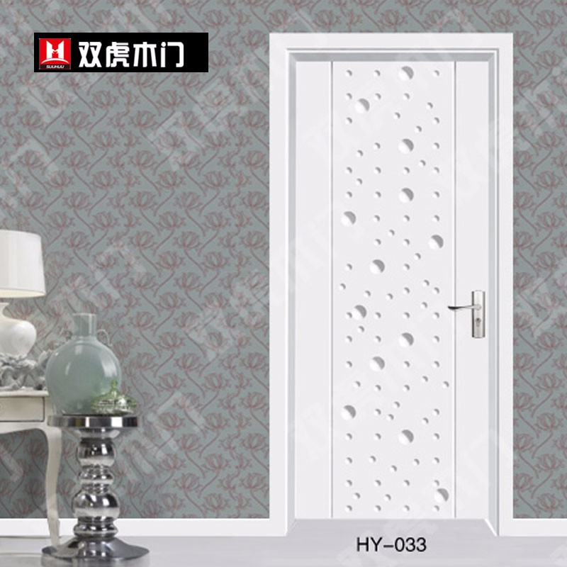 双虎木门简约生活实木复合套装门白色烤漆门白混油室内门卧室门