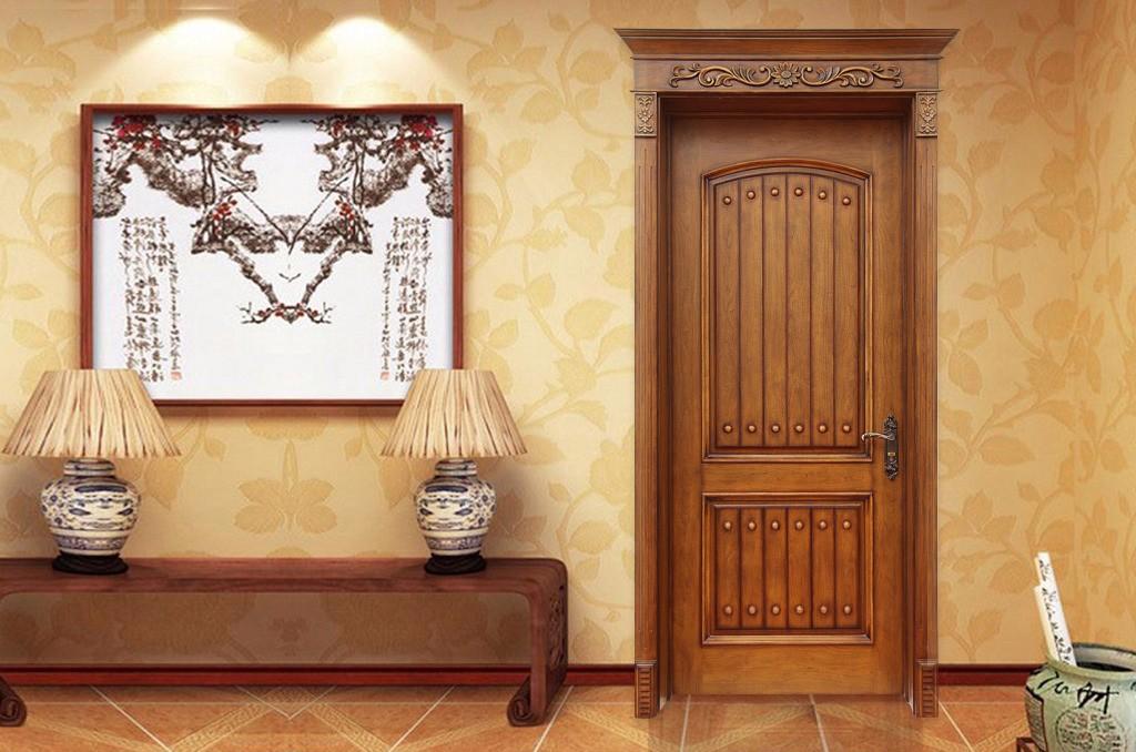 皇朝木门美式红橡原木门