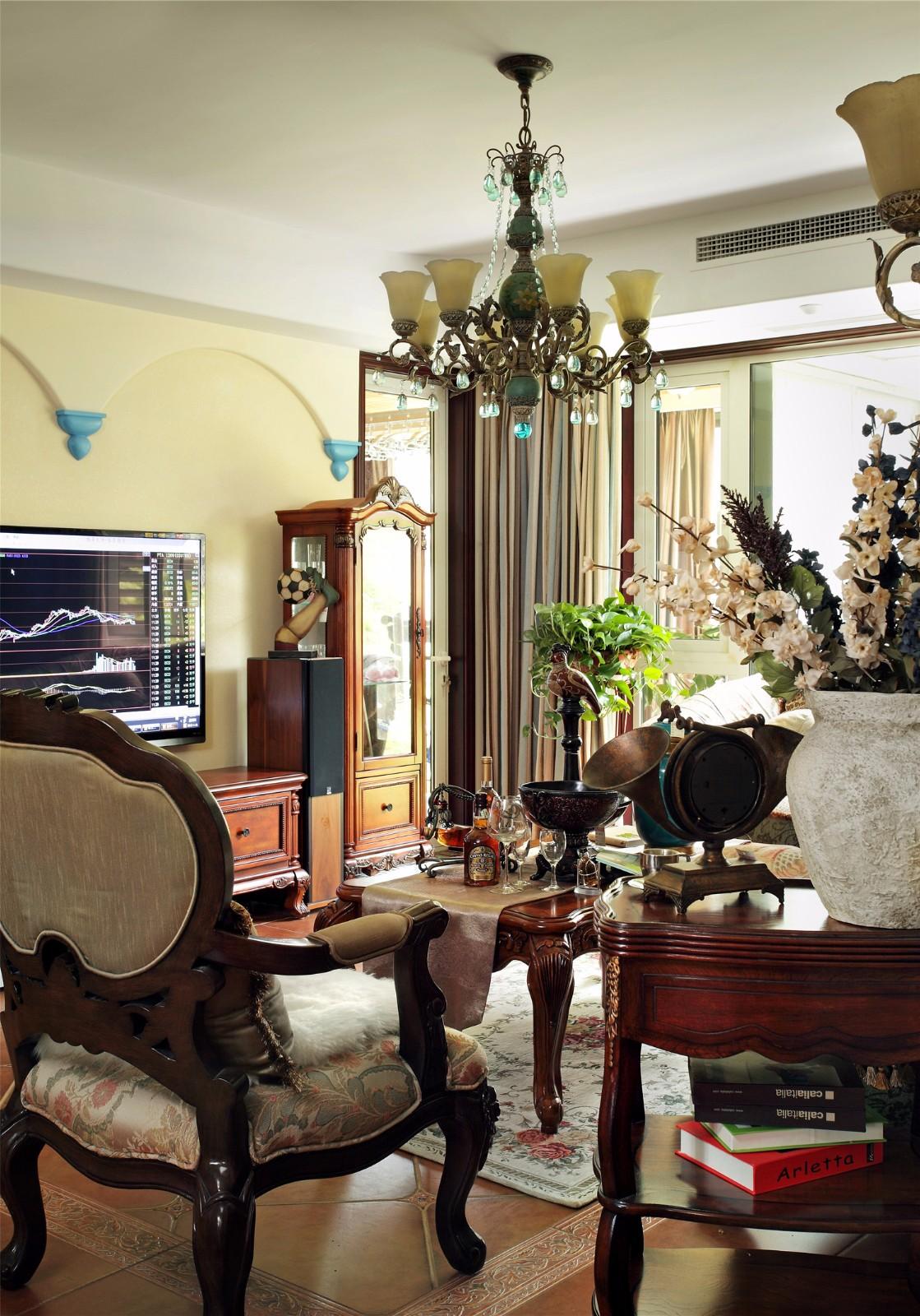 复古美式风格--客厅