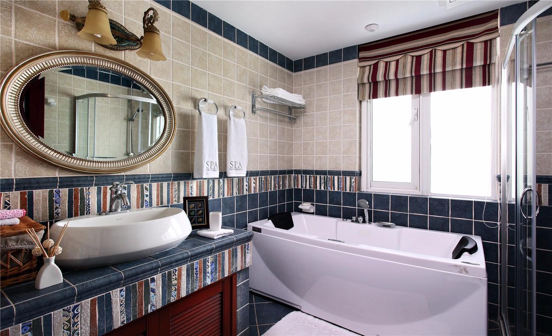 复古美式风格--卫生间