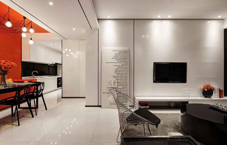 亮色系一室一廳效果圖