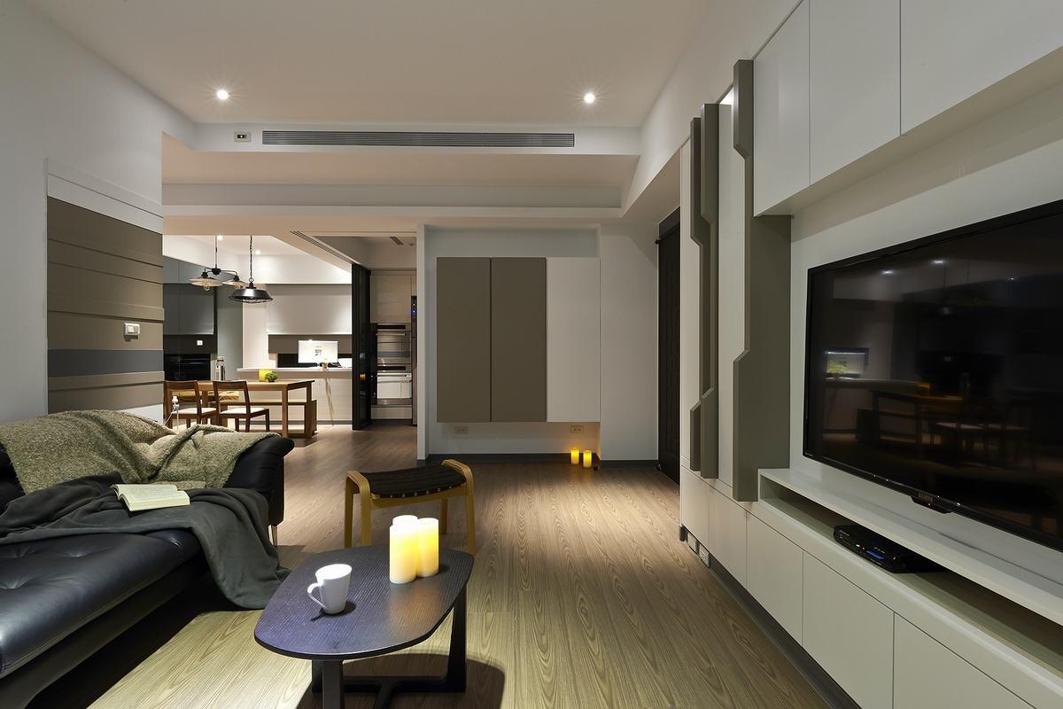 現代簡約家居風兩居室效果圖