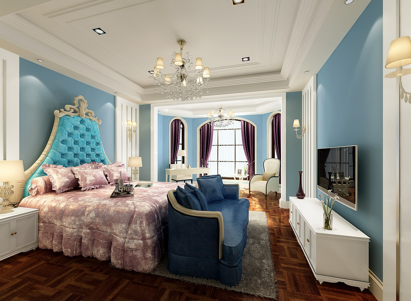 豐澤島豪華美式別墅裝修效果圖案例