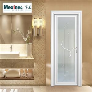 Mexin美心木门 钢化玻璃门 钛镁合金卫生间门厨房门厨卫门单开门