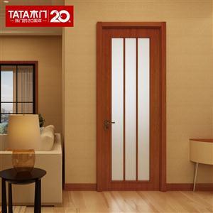 TATA木门 简约卫生间门 厕所门玻璃门套装门厨房门室内门@014