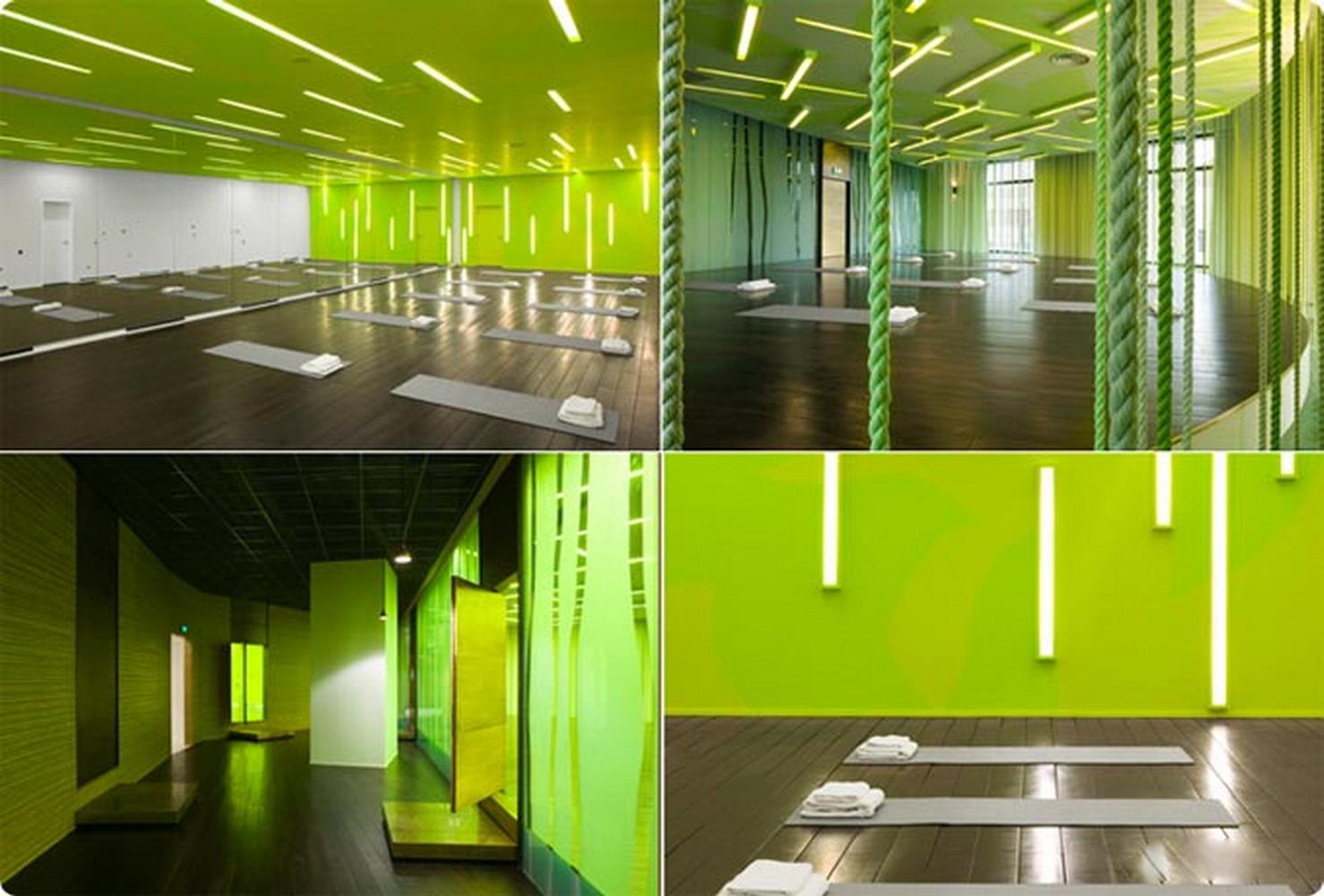 綠色森系瑜伽館室內裝修效果圖
