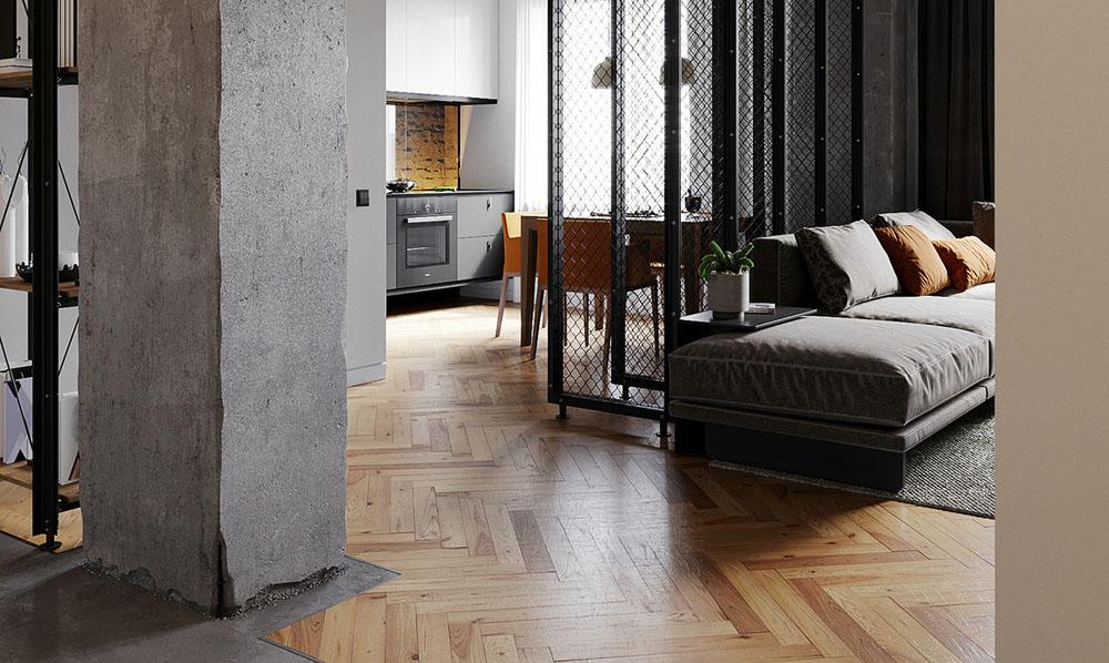 北欧一居室63m²工业风设计