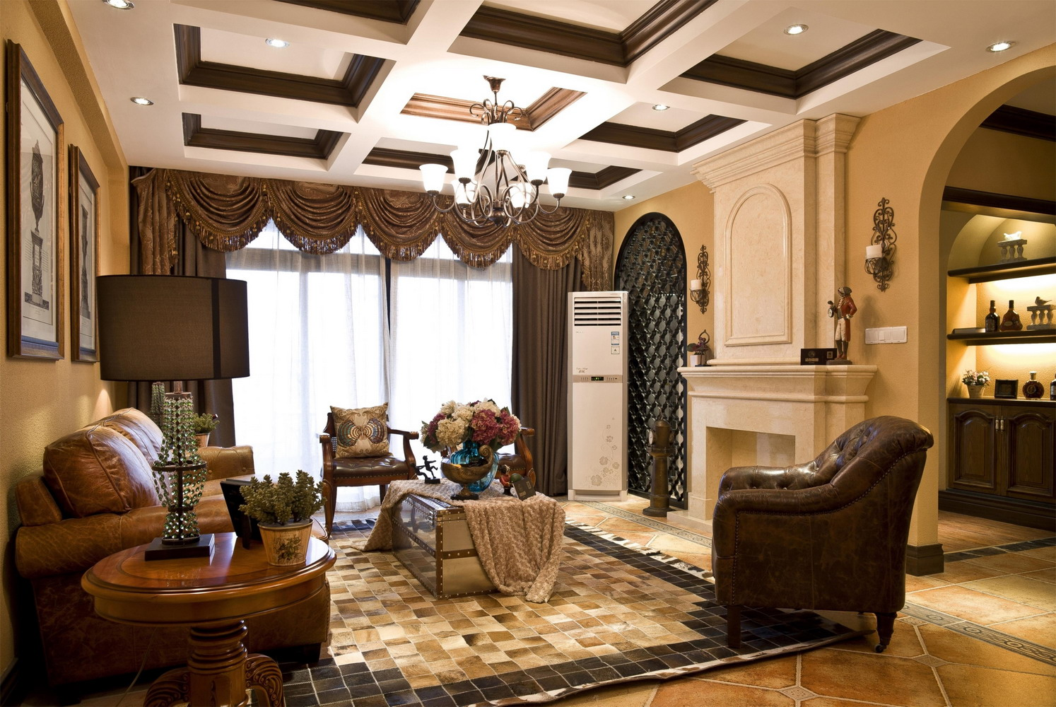 建屋吴郡半岛二居室美式风格