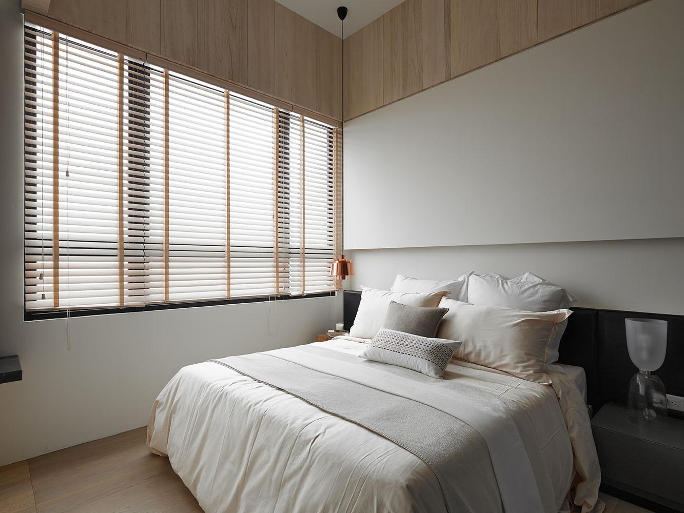 淡雅、简约、深邃两室一厅装修效果图