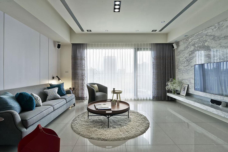 現代三室一廳裝效果圖織金華庭