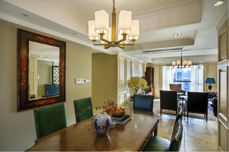 現代美式客廳裝修設計方案之三:低調奢華。