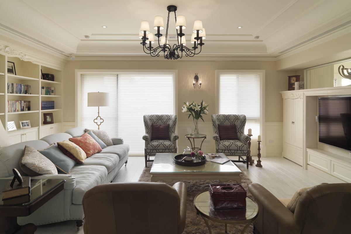 四居室現代簡約個性明快的美式風格