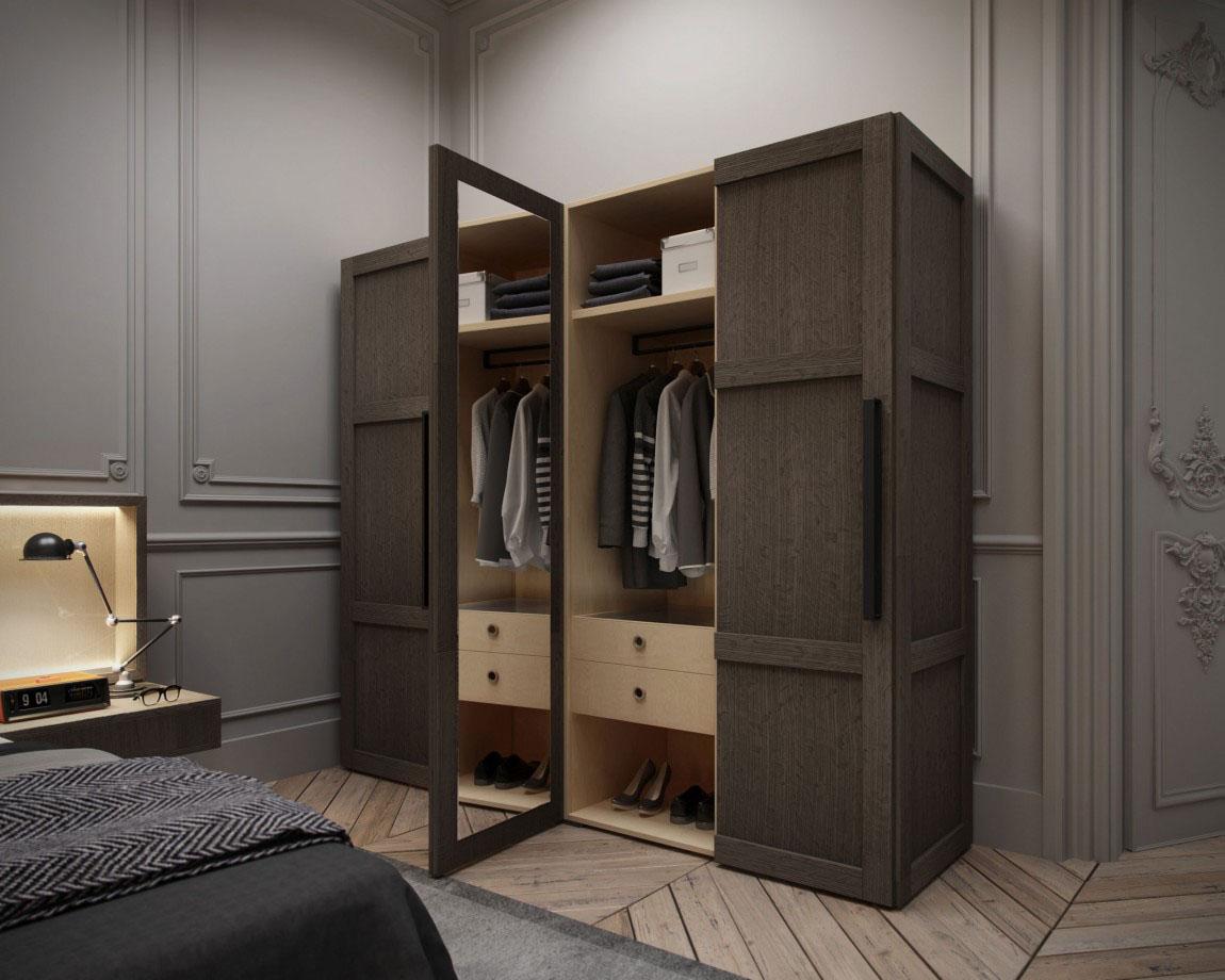 衣柜簡單大氣多功能分區