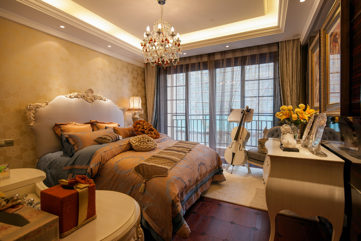 歐式風格臥室豪華裝修設計案例
